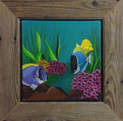 "Künstler: Mag.art Claudia Trentini ""Gefühl des Meeres 2"" 30*30cm, Acryl auf Leinwand, Zell am See 2015"