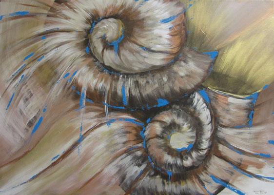 "Künstler: Mag.art Claudia Trentini ""Muschel"" 2015, Acryl auf Leinwand, 70*80cm, Zell am See 2016"
