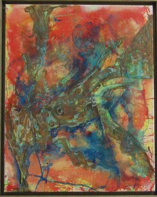 """Künstler: Trentini """"Tuschefisch"""" 40*30cm, Acryl auf Leinwand, Zell am See 2015"""