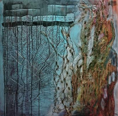Trentini,  König und Königin 2017, Acryl auf Leinwand 100*100 cm, Salzburg, Zell am See
