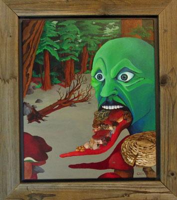 """Künstler: Trentini """"Gesundheit"""", Acryl auf Leinen, 60*80 cm, Zell am See 2014"""