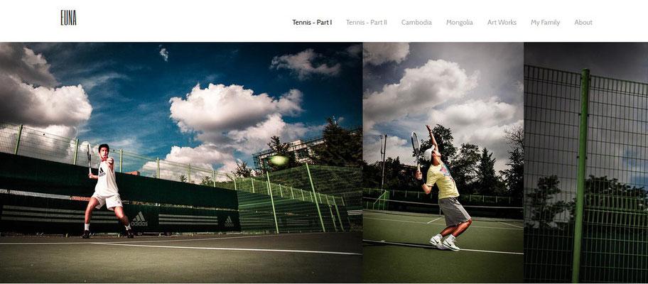 Site pessoal Tenista coreano Sun