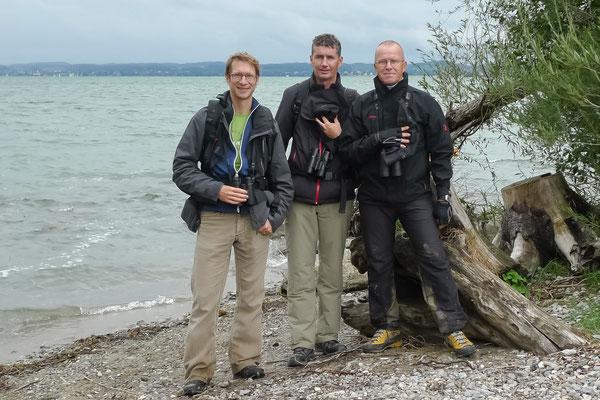 Pascal Parodi, Martin Roost und Stephan Trösch am Bird Race Schweiz 2012 | Vorarlberger Rheindelta (Foto: Stephan Trösch)