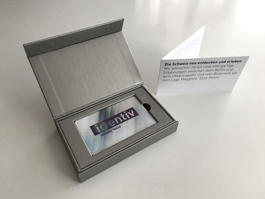 Membercard (Identiv AG) mit hochwertiger Klappschachtel in Metallic und Magnetverschluss