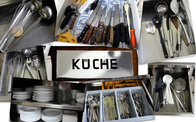 Essgeschirr, Besteck, Kochutensilien - alles in Hülle und Fülle
