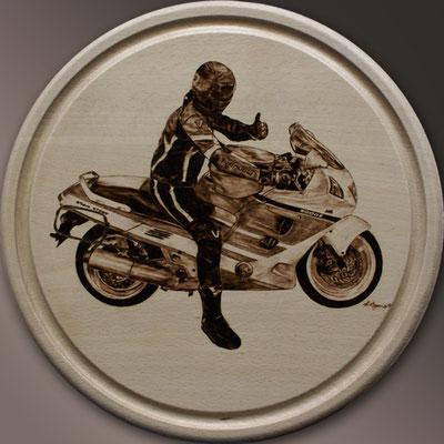 Motorrad, Brandmalerei