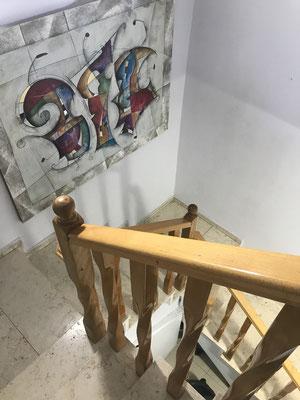 Escalier vers le 2ème étage
