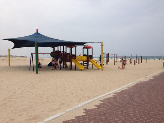 Espace de jeux dans le sable