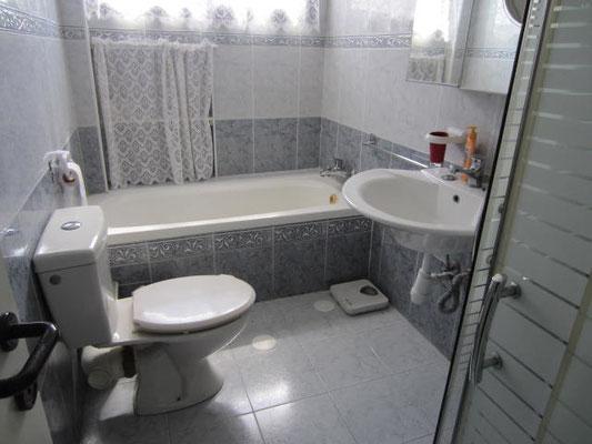 salle de bain baignoire + douche
