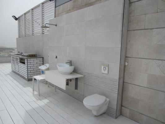 Salle d'eau en cours d'aménagement