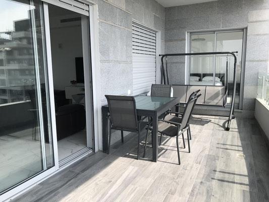 Belle terrasse aménagée