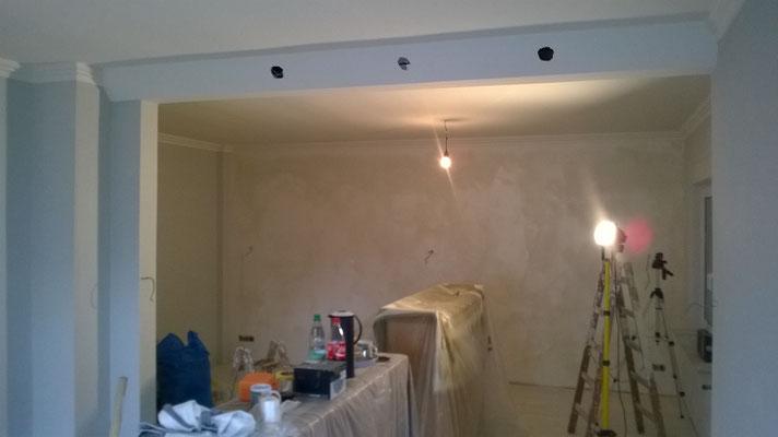 Wohnzimmer Malerarbeiten Bremen und Umgebung