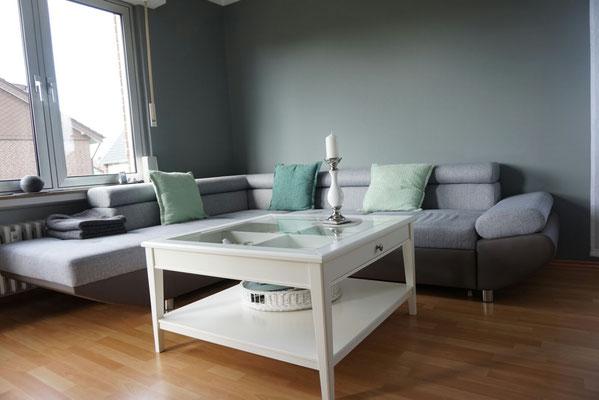 Wohnzimmergestaltung ideen und beispiele Farbgestaltung