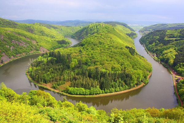 Die Saarschleife im Landkreis Merzig - Wadern