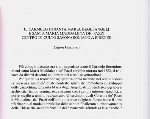 """""""Vivens Homo"""" 1 (2018) Carmelo di Santa Maria degli Angeli centro di culto savonaroliano a Firenze"""