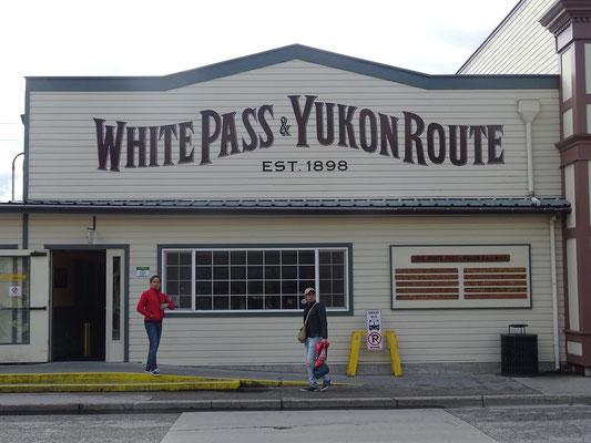 Skagway, Bahnhof der White Pass Line (sehr schöne Streckenführung)