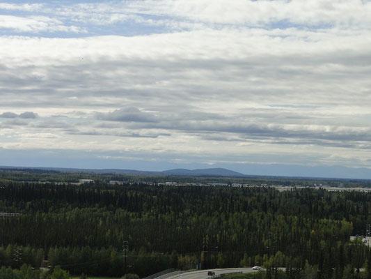 Blick von der University of Alaska in Fairbanks