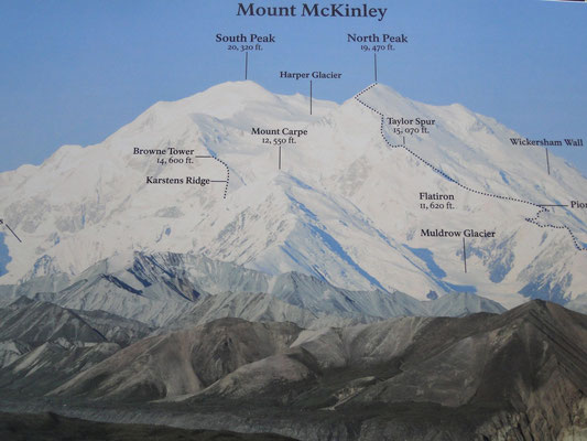 Mt. McKinley im Detail