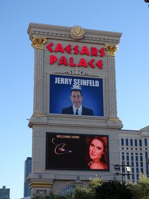 Jerry Seinfeld und Céline Dion sind im Caesars zu Gast
