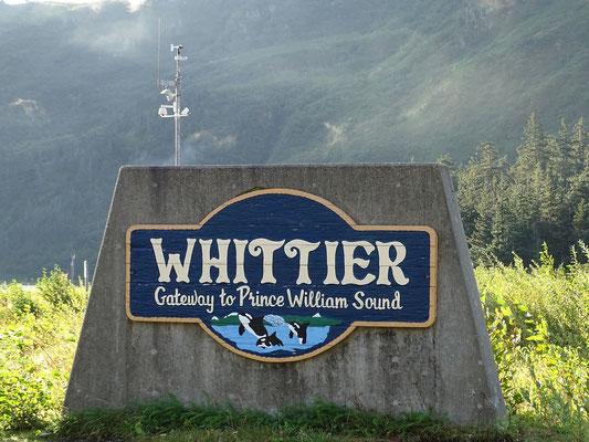 Und schon sind wir in Whittier, dem Ausgangspunkt der heutigen Fährfahrt