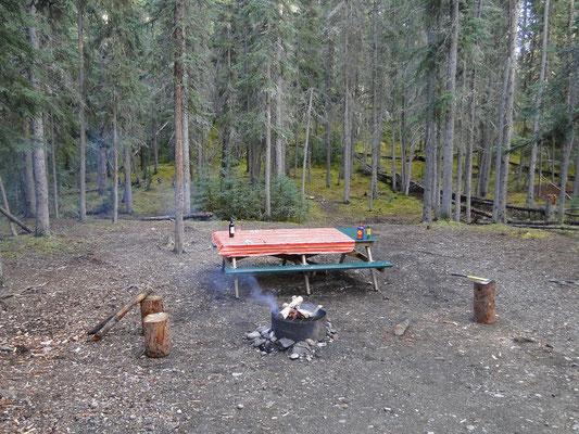 Campground (Tischdecke machts heimelig)