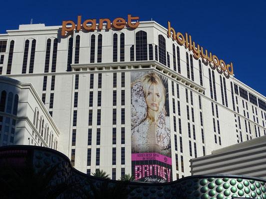 Britney Spears, zeigt ihre Show im Planet Hollywood