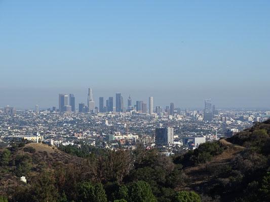 Downtown L.A. vom Mulholland Drive aus gesehen