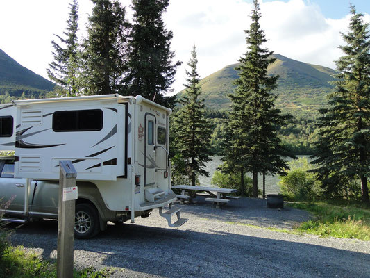 unser Campingplatz im Tenderfoot Campground