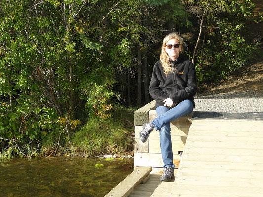 beim Tatchun Lake bei Sonnenschein