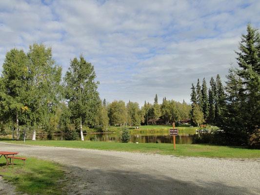 Campsite am Chena River in Fairbanks