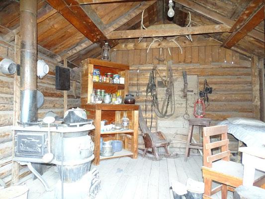 so muss es um 1899 in den Cabins hier oben ausgesehen haben