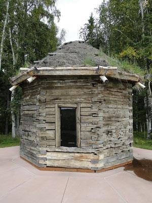 Blockhütte aus vergangenen Zeiten