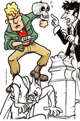 Cartolina Godega a fumetti 1