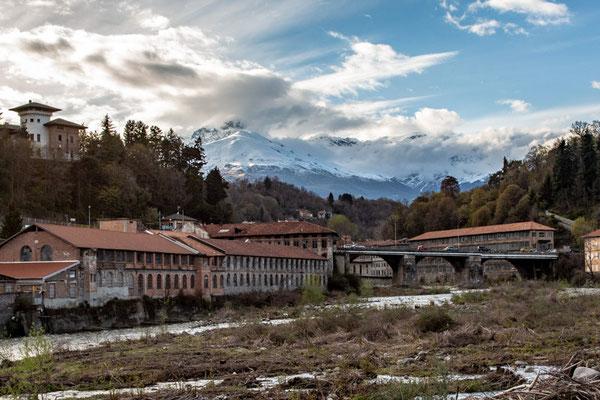 A valle del ponte di Chiavazza