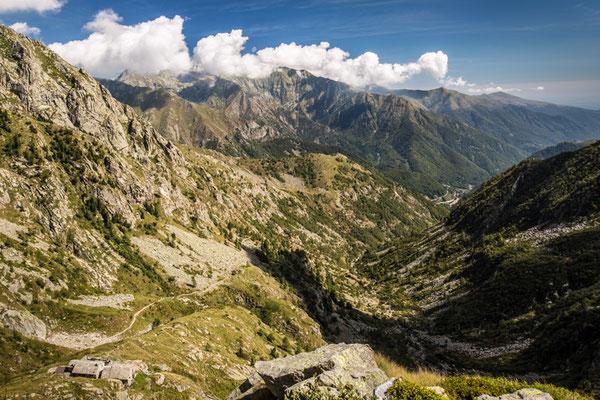 L'asperità dell'Alta Valle Cervo da sopra il Rifugio della Vecchia