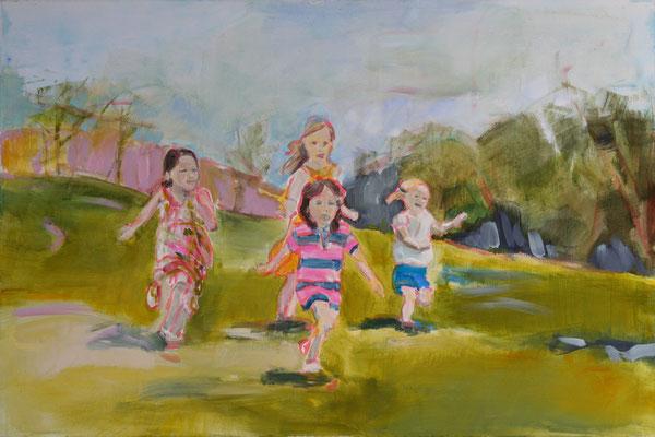 Springende Kinder 140x100