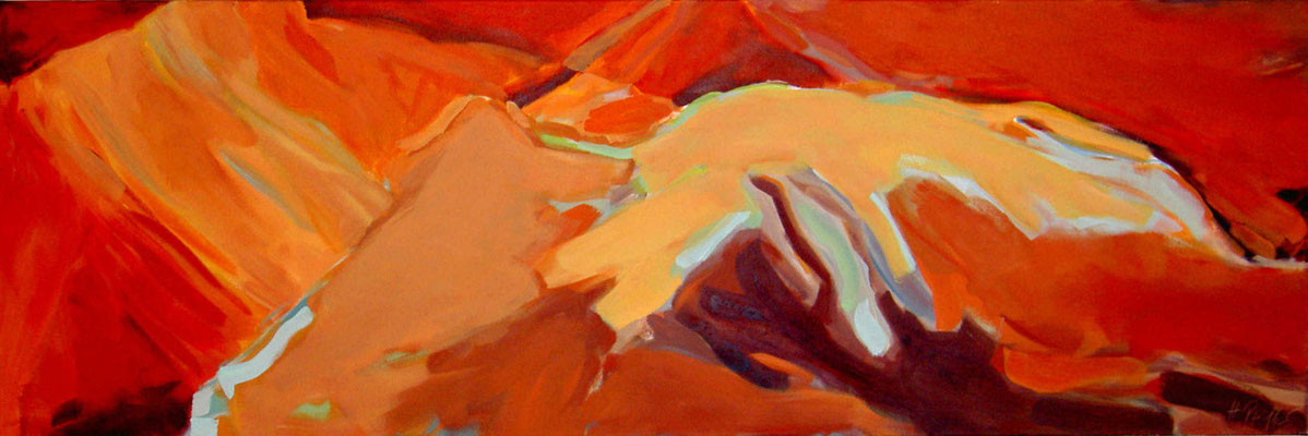 Rote Berge 160x60