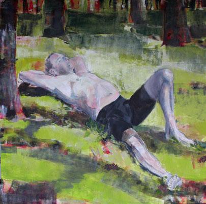 Mann im Wald 160x160