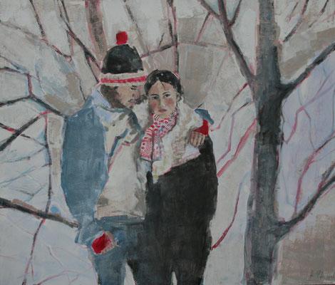 Gemeinsam im Schnee 140x120