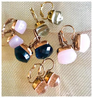 Statement-Ohrringe, unterschiedliche Größen und Farben, 18 Karat vergoldet, 89,00 € bis 99,00 €