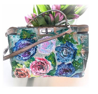 handbemalte Tasche, italienisches Design, Unikat, 299,00 €