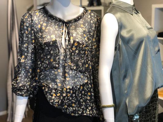 DOROTHEE SCHUMACHER: [links]: Bluse: Seide, 395,00 € [rechts] Bluse: Seide, 350,00 €