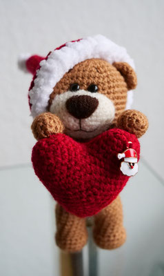 Xmas Teddy Berti Brown