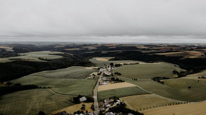 Luftaufnahme Grimbach Ende Juli  2019