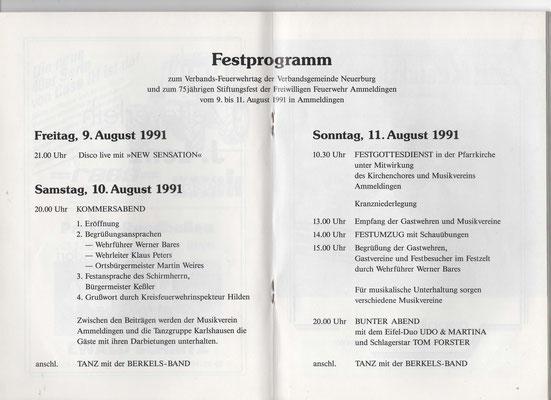 FESTSCHRIFT FFW Ammeldingen (1991)