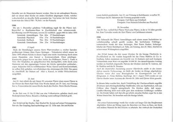 100 JAHRE PFARRKIRCHE ST. ISIDOR 1896 - 1996...
