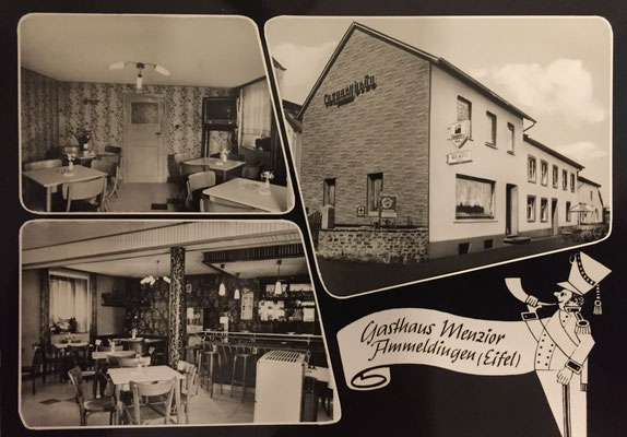 Alte Postkarte Gasthaus Menzior