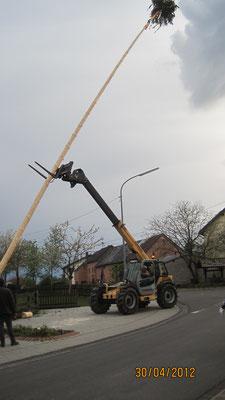 Maibaumaufstellen 2012