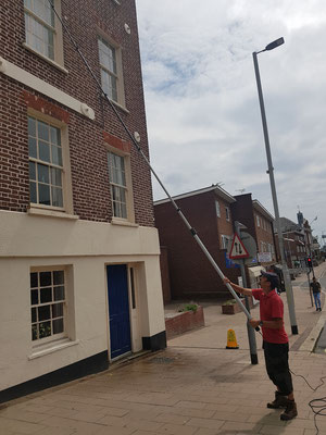 South Street Exeter over 30foot window cleaning