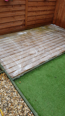 Decking cleaning in Cranbrook, Devon